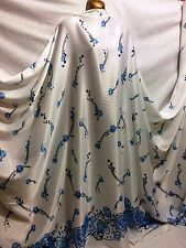 *NEW* Powder Touch Satin Abstract Border Print Dress/Crafts Fabric*FREE P&P*