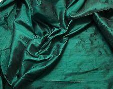 """Silk DUPIONI Fabric Hunter Green fat 1/4 18""""x27"""" remnant"""
