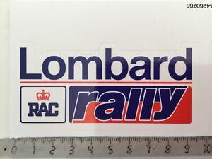 Sticker / Aufkleber, Lombard RAC Rally, Rallye Schild Classsic