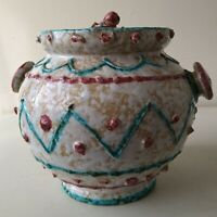 Dulane Italian Mid Century Ceramic Lidded Pot / Caddy / Speckled Glaze Vintage