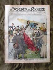 La Domenica del Corriere 24 Luglio 1910 De Lesseps Naufragio a Ginevra Alpini