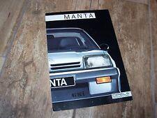 Catalogue /  Brochure OPEL Manta 1987 //