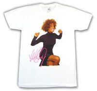 Whitney Houston Smile Pic Photo Image White T Shirt New Official Merch
