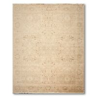 9' x 12' Hand Knotted Traditional Design 100% Wool Oushak Beige Pile Area Rug