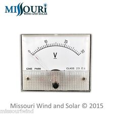 DC 30 Volt Analog Meter for Wind Turbine Generator Solar Panel RV Marine Auto