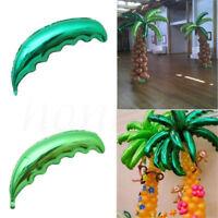 1/5pcsTropical Palm Tree Leaf Foil Balloon Hawaiian Beach Party Balloon Decor