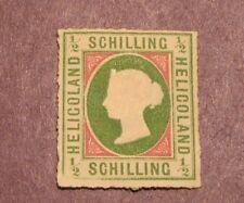 Heligoland Stamp Scott# 1 Queen Victoria !867-68 MNG CV 325.00 L54