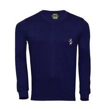 Polo Ralph Lauren CrewNeck Men Regular Fit- Long Sleeve Bear Tee M L 3XL 4XL 5XL
