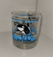 Vintage Sea World Shamu Whale Dolphin Glass Tumbler Lowball Pen Cup Etc