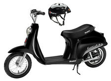 Razor Pocket Mod Vapor Electric Scooter (Black) & Youth Sport Helmet (Black)