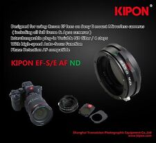 Kipon Auto Focus AF ND filters Adapter fr Canon EOS EF Lens to Sony E NEX A7R II