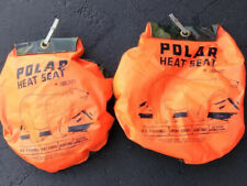 Pair Of Vintage Kolpin Polar Heat Seat, Orange & Camo Hunting, Camping, Fishing