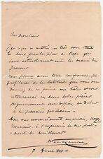 LAS Octave Uzanne bibliophile homme de lettres à M Le Breton Rouen Félicien Rops