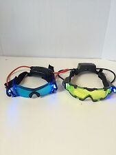 Wild Planet Spy Gear SVG Night Vision Glasses Goggles Light Up Blue  Green Lot