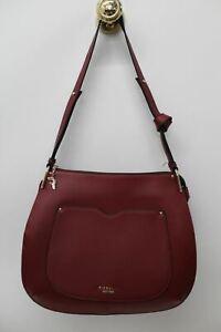 FIORELLI Ladies Maroon Red Faux Leather Zip Closure Medium Satchel Handbag