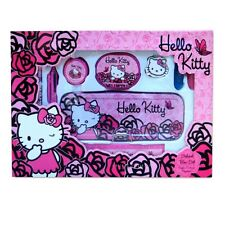 Hello Kitty 'Rose Roses's School set papeterie Stylo, Crayon, TAP, Gomme Neuf Cadeau