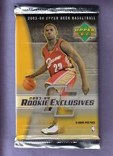 2003-04  Upper Deck Rookie Exclusives Basketball Pack Box Fresh! James, Wade