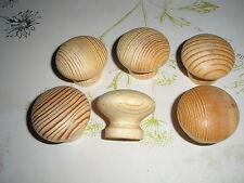 Lot 6 bouton bois  de style  ,meuble, commode, tiroir, diamètre  4 cm