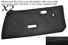 Negro Stitch 2x Frontal Puerta Tarjetas Cuero Skin cubre encaja Fiat X1/9 x19 73-89