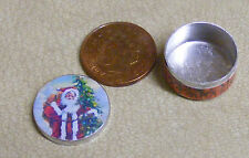 1:12 Scale Empty Santa Biscuit Tin Tumdee Dolls House Miniature Christmas Bt23