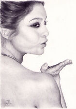 Arte Original. Vanessa Hudgens Retrato. (Sucker Punch) por Simon campo.
