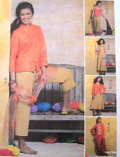 Womens easy wardrobe coordinate pattern sz 6 8 10 12 capris tank top skirt cardi