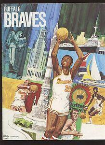 March 20 1971 NBA Basketball Program Portland Trailblazers at Buffalo Braves EX
