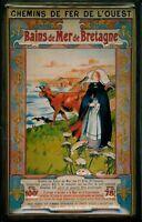 Bains de Mer de Bretagne Blechschild Schild 3D geprägt Tin Sign 20 x 30 cm