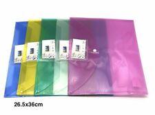 Set 12 Cartelline Portadocumenti Cartellina Colorate Custodia Fogli A4 hmj