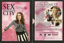 SEX AND THE CITY - INTEGRALE SAISON 6 ( COFFRET 5 DVD ) / COMME NEUF