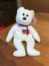 "Ty Libearty RARE ""BEANINE"" Error Teddy Bear Beanie Baby 4th//3rd Gen MWMT MQ!"