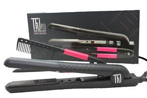 New Women Travel Box Kit Professional Ceramic Iron Hair Comb Anti Static Style