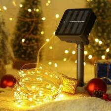 Outdoor 33FT 100 LED Solar String Lights Copper Wire Fairy Lights Waterproof