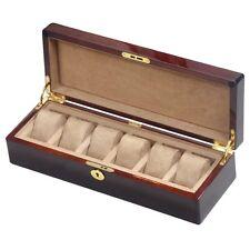 Camphor Burl Wood 6 Watch Storage Box