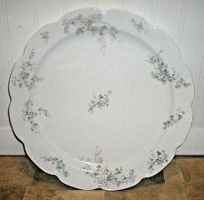 """Round HAVILAND & Co. Chop Plate 12-13"""" LIMOGES France Scallops & Floral Platter"""