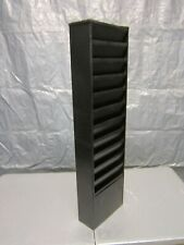 "Buddy Products 0812-4 Black Steel Vertical Display Rack 36-1/2"" x 9-3/4"" x 4"""