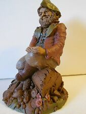 "Nos Vtg Tom Clark Gnome ""Hyke Ii"" '86, Ed #70, Sitting on a Log Unused!"