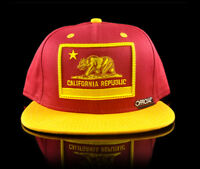 Stay Official - Red and Yellow California Republic Cali Usc Snapback