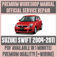 WORKSHOP MANUAL SERVICE & REPAIR GUIDE for SUZUKI SWIFT 2004-2011 +WIRING