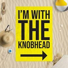 I'M con la Knobhead Amarillo Microfibra Toalla Playa Chiste Divertido Regalo