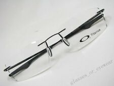 Eyeglass Frames-Oakley keel OX3122-0153 Polished Black Titanium Rimless Glasses