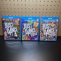 3 Game Lot-Just Dance 2014, 2015 & Just Dance 4 (Nintendo Wii U) Tested