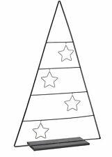 Weihnachts Deko Tannenbaum mit Sternen - 69,5 cm - Metall Tanne Weihnachtsbaum