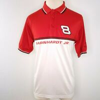 Dale Earnhardt Jr Polo Collared Shirt Mens L Chase Authentics Nascar Budweiser