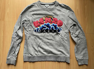 Authentic Kenzo Paris Clouds Pullover Sweater Embroidered Sweatshirt Womens
