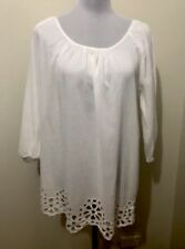 Ladies SEAFOLLY White Low Back Top. Size S-M. EUC