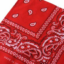 1 Women Men Kerchief Paisley Bandana Cotton Soft Neck Scarf Headwear Headscarf