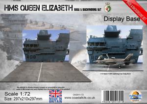 Coastal Kits 1:72 Scale HMS Queen Elizabeth Base & Background Set