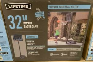 "LIFETIME 32"" PORTABLE YOUTH BASKETBALL HOOP**"