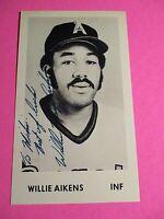 Willie Aikens California Angels Signed AUTOGRAPH AUTO Photograph